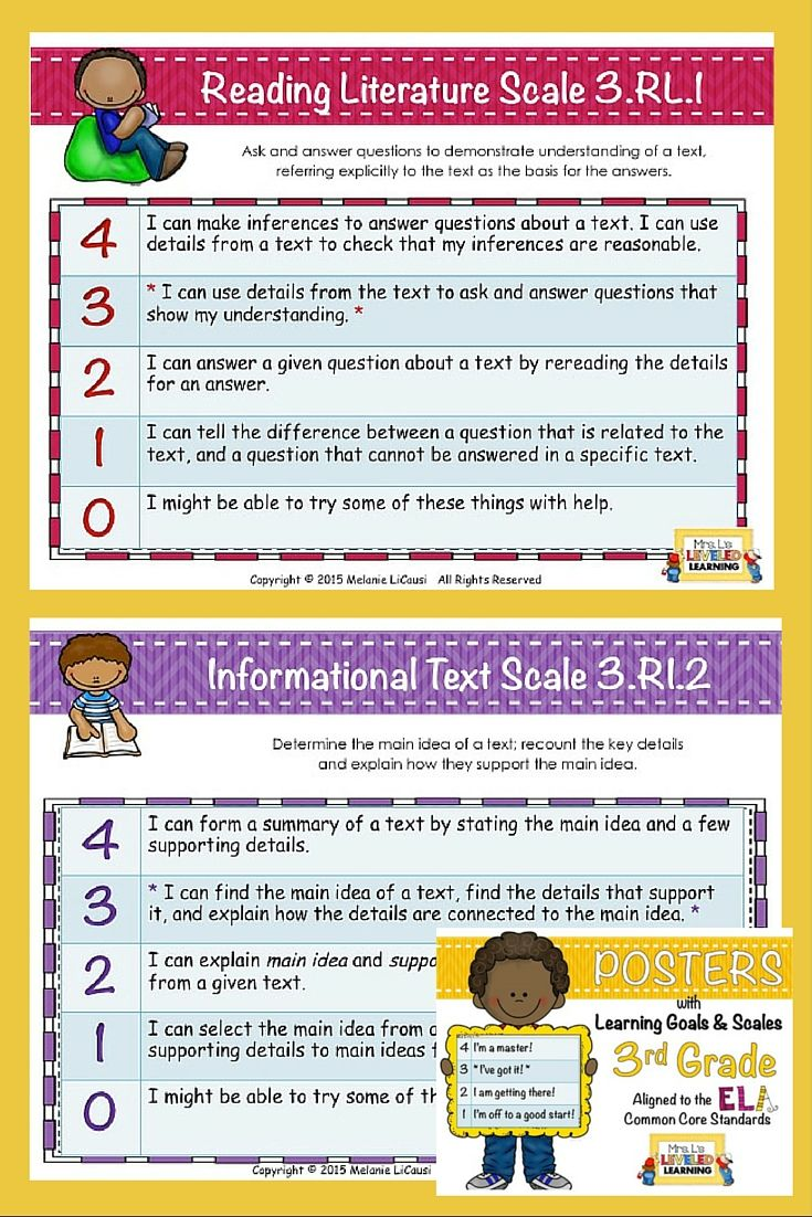3rd Grade ELA Marzano Scales Examples (RL.1-2, RI.1-2) these FREEBIES could save you hours of time and thinking! Find a complete set linked to the same page.