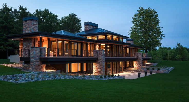 Modern Lake House Design: CHARLES R. STINSON ARCHITECTURE