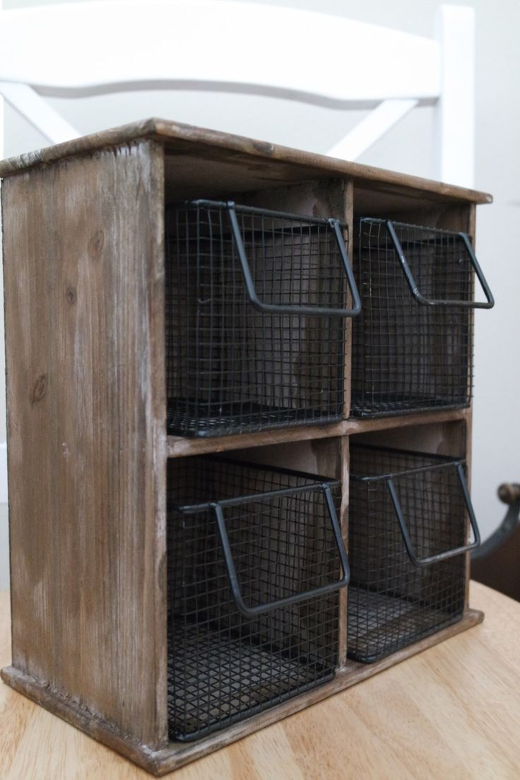 Rustic Storage Cabinet with Baskets, Wood Hanging Shelves, Kitchen Office Bathroom Display Compartment,  FREE US Shipping by YourGreatestStory on Etsy https://www.etsy.com/listing/248487464/rustic-storage-cabinet-with-baskets-wood