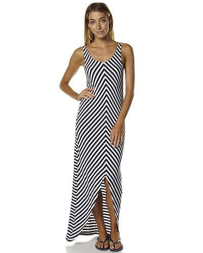 Minkpink | jersey womens maxi dress - navy white | $59.99