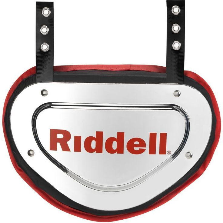 Riddell Adult Chrome (Grey) Football Back Plate