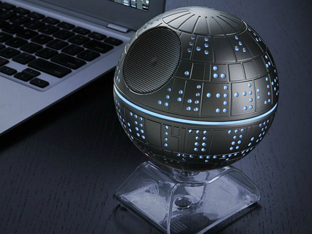This officially-licensed Star Wars merchandise is a faithful replica of the original Death Star from Episode IV that also plays your fav tunes.