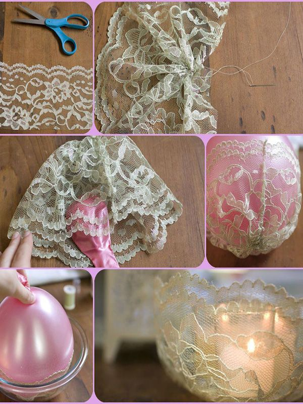 Elegant Lace Candle Holder. 409 best images about DIY Bedroom decor on Pinterest   Indian