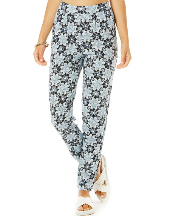 Mosaic Print Soft Pants