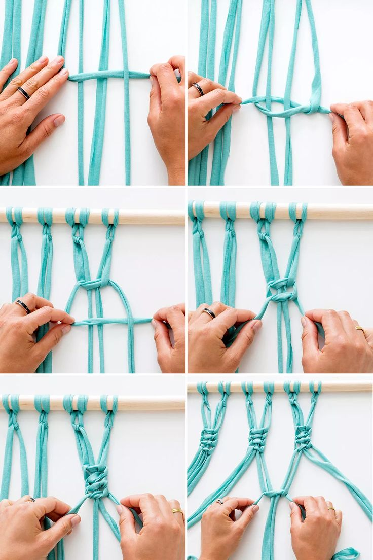 Make your own macrame wall hanging with this tutorial.