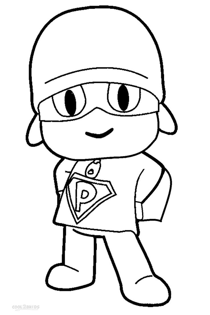 Childrens tv colouring pages - Printable Pocoyo Coloring Pages For Kids Cool2bkids