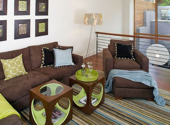 21 Best Images About Green & Brown Living Room On Pinterest