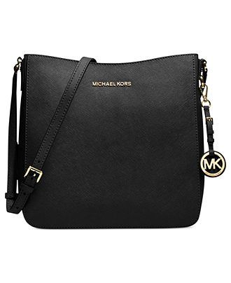 MICHAEL Michael Kors Handbag, Jet Set Travel Large Saffiano Messenger Bag - Handbags & Accessories - Macy's