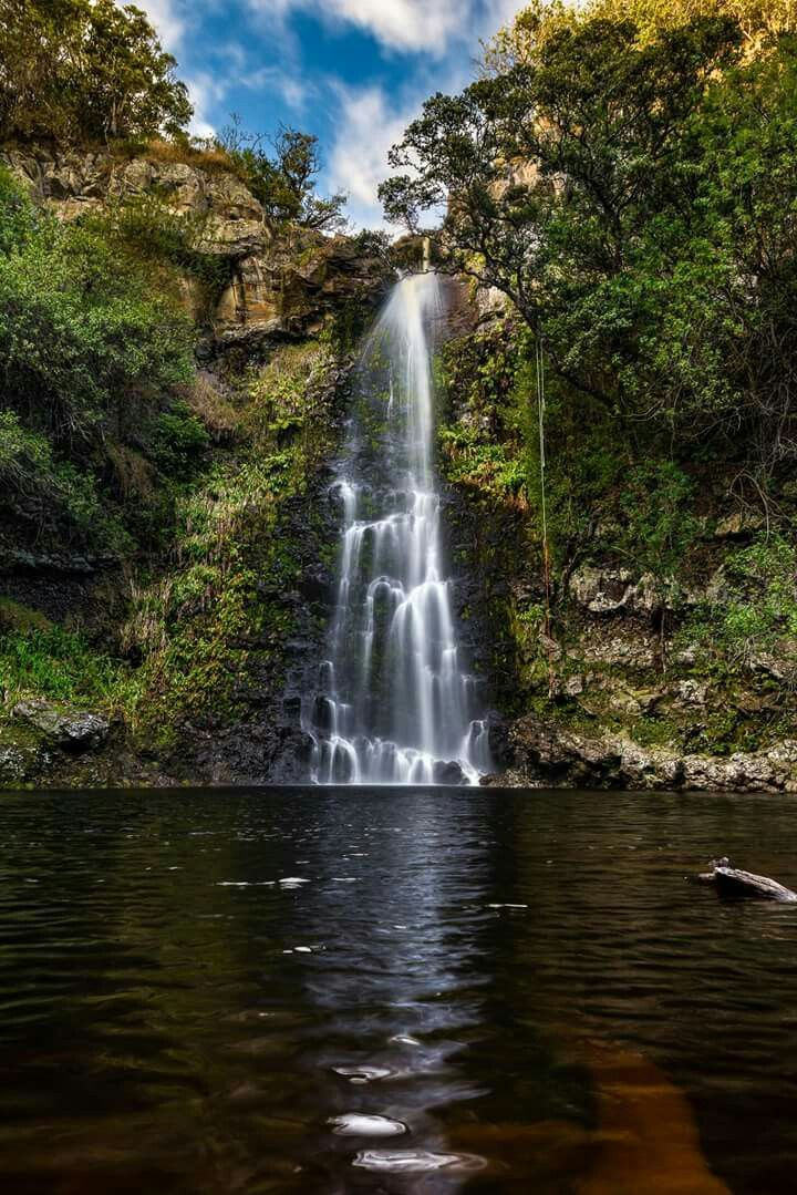 Kulaniapia Falls,Hilo,Hawaii.Such a beautiful and majestic sight and Water is cool,crystal clear,pristine,crisp,and clean.Truly a compelling beauty to behold.