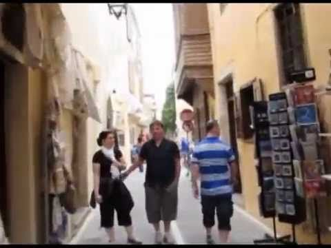 Visiting The City Of Rethimno In Crete Island Greece By Bicycle