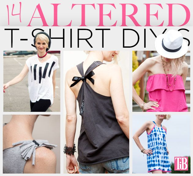 14 Altered T-Shirt DIY's Feature www.trinketsinbloom.com