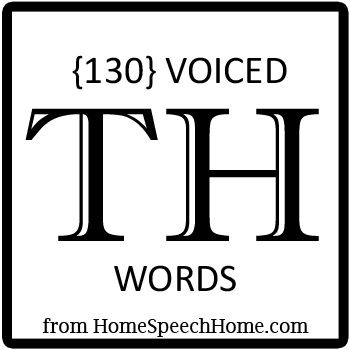 130+ Voiced TH Words for Speech Therapy Practice