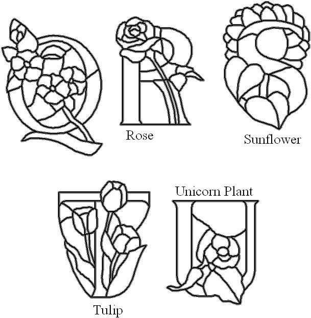 16 best alphabet numbers stained glass images on pinterest q through u flower alphabet spiritdancerdesigns Images