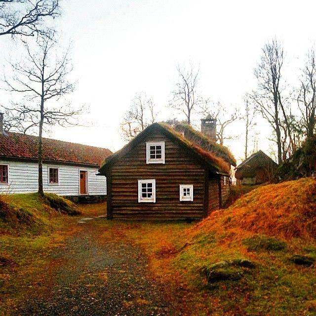 Thank you @supernovalova, this is amazing. #house #home #autumn #fall #nature #landscape #natureporn #sky #trees #naturephotos #norway