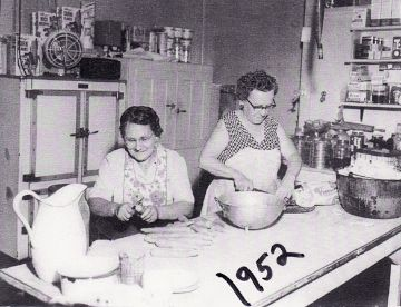 "Mom's apron......""Aprons were a very necessary part of Mom's wardrobe as a farmer's wife. She had to be careful not to soil the few nice clothes she did have. So protecting her dresses (Mom never wore slacks; she considered them sinful) from stains and splashes was a priority."""