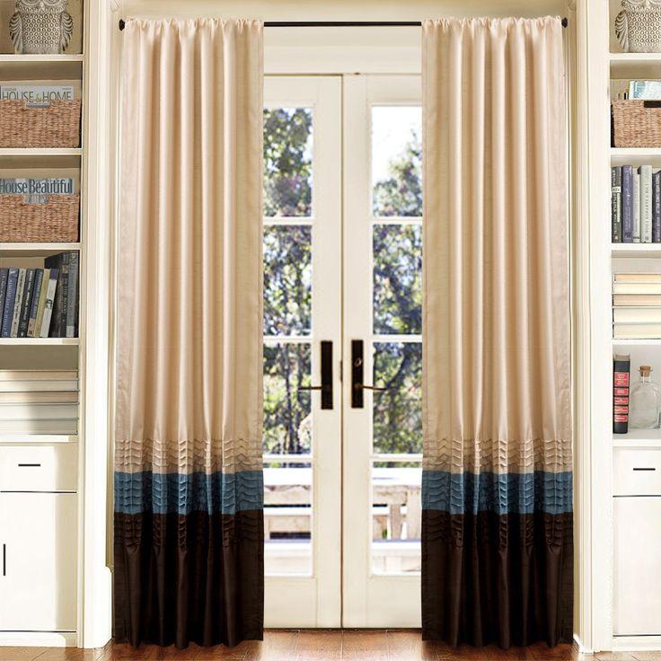 Mia Blue/Chocolate Window Curtain Set 54×84 – Lush Decor U10218Q11