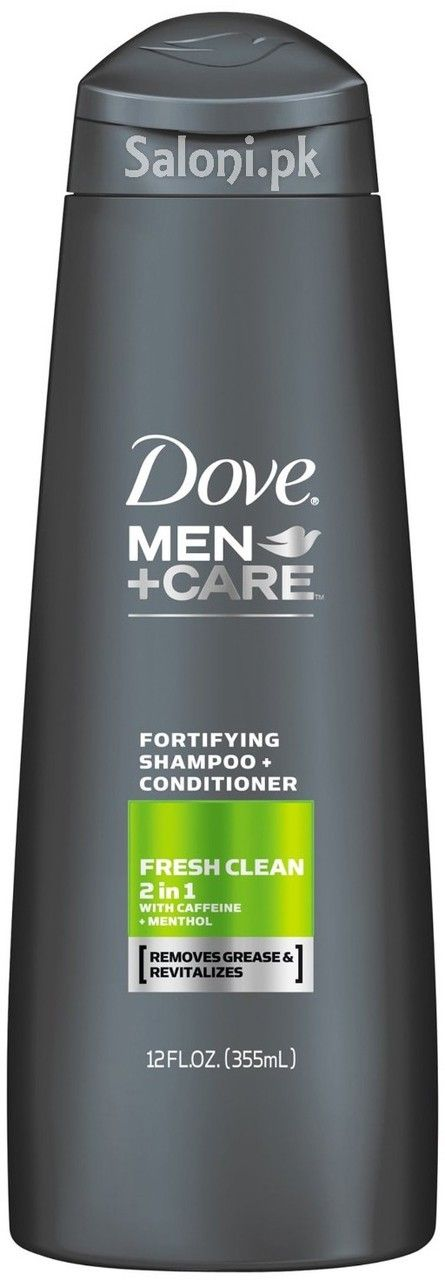 DOVE MEN + CARE FRESH CLEAN 2 IN 1 FORTIFYING SHAMPOO + CONDITIONER 355 ML Saloni™ Health