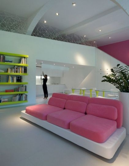 pink couches!