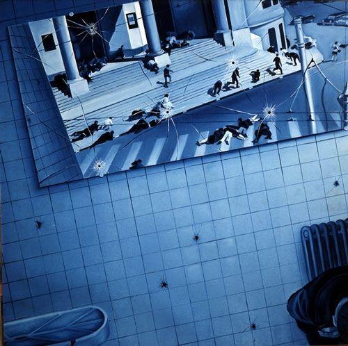 Jacques Monory - Meurtre 18 - 1968 http://jpdubs.hautetfort.com/archive/2011/02/06/figuration-narrative.html