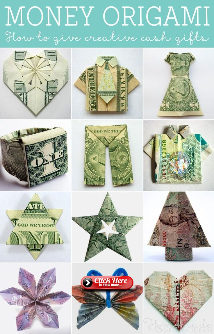 How to fold Money Origami or Dollar-Bill Origami
