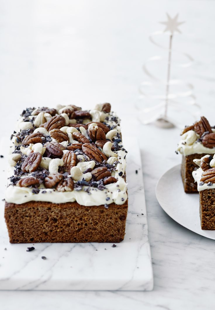 Honey cake with fruits, nuts and cocoa sprinkles ♥