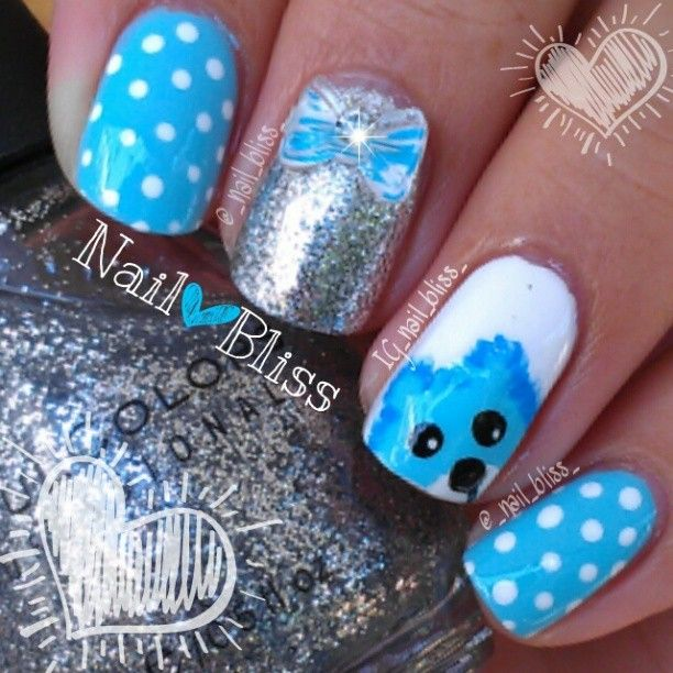 Gel nails baby boy trickle. View Images ... - Nail Designs For Baby Boy ~ It S A Boy Baby Footprints Nail Art Nails