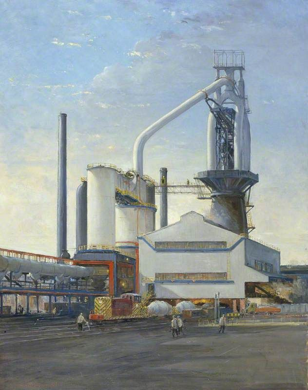 Charles Ernest Cundall (1890-1971) - No.5 Blast Furnace, Abbey Works, Margam, 1959