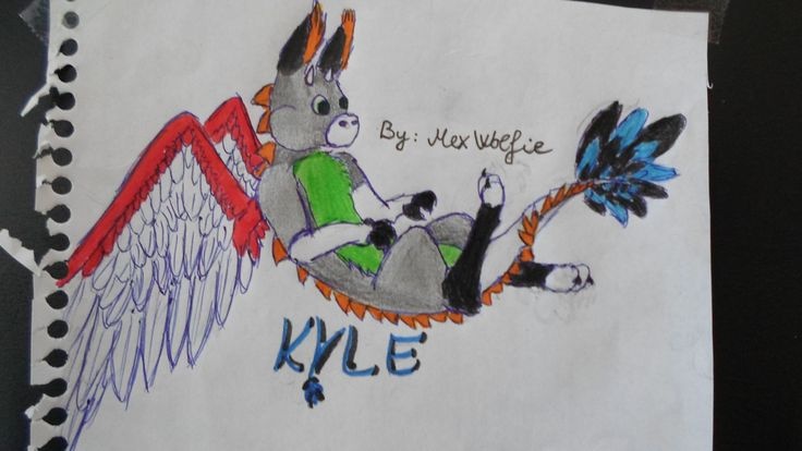 My friend drawed my 2nd fursona Kyle. by: Mex Wolfie (Please don't repin)