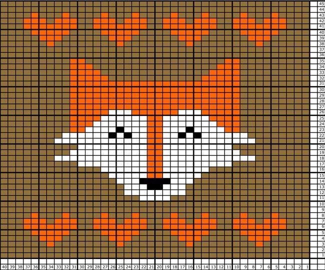 Fox Tea Towel Pattern                                                                                                                                                                                 More