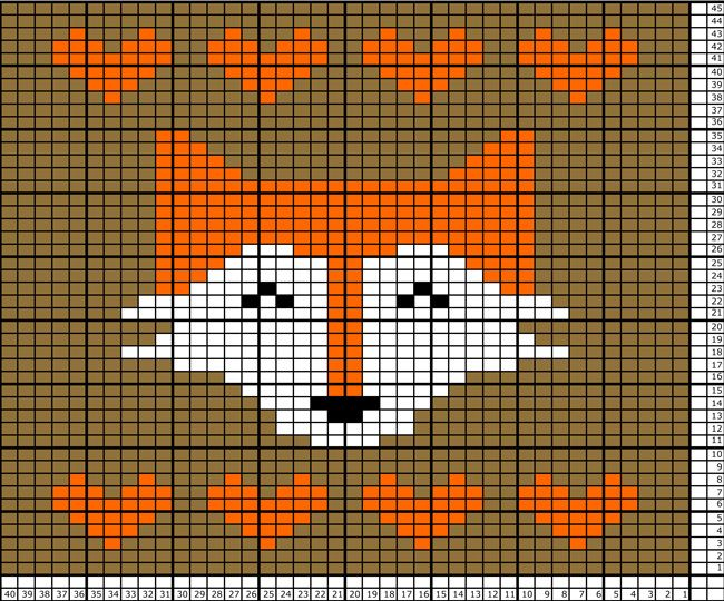 Fox Tea Towel Pattern