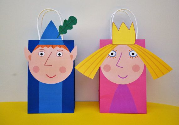 DIY Ben and Holly Party Favor Bags/ Party ideas/ decor/ decoration/ favors. Purchase this Printable Ben & Holly Little Kingdom Favor Bags Templates and make your own Goodie Bags. Unlimited Printing! Ben & Holly Birthday Party/ Goody/ Treat/ Candy/ Loot/ Gift Bags/ Bag/ box/ boxes/ invite/ invitation/ cake/ cupcake toppers/ bottle labels/ pinata/ decorations/ centerpieces/ dress/ tutu/ instant download/ free/ fiesta/ festa/ pastel/ bolo/ backdrop/ birthday banner/ games/ DIY party bags
