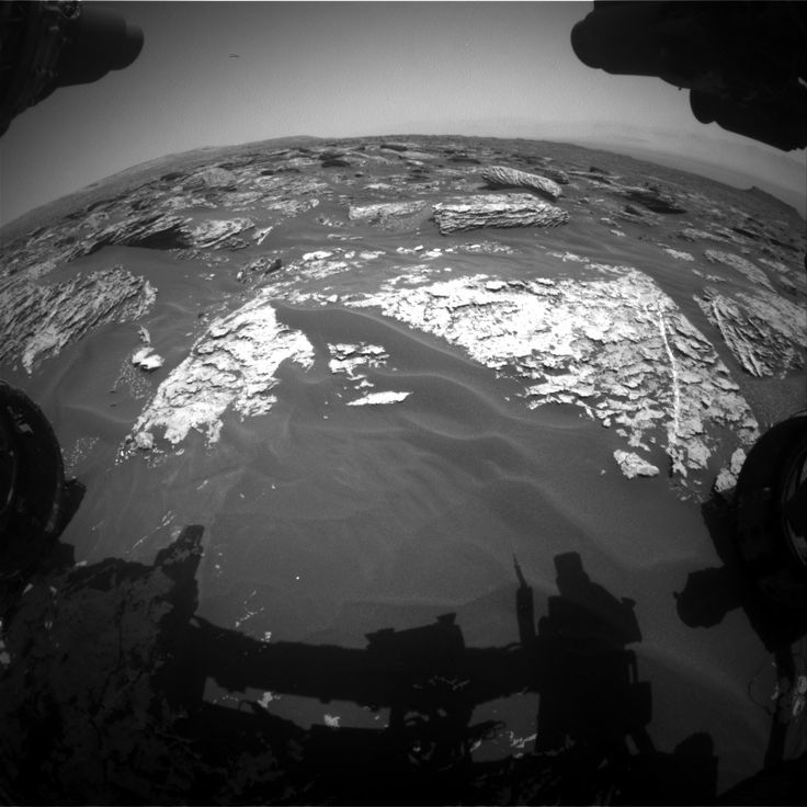 NASA's Mars rover Curiosity acquired this image using its Front Hazard Avoidance Cameras (Front Hazcams) on Sol 1719