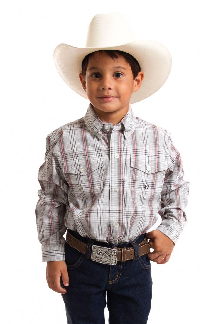 Camisa Roper Infantil Manga Longa   camisa masculina manga longa infantil marca Roper xadrez clara feita em 100% algodão. O papai gosta de andar com o filho muito bem vestido ao seu lado. Com roupas importadas e de qualidade. As Lojas Cowboys vestem a mamãe, o papai, o filho e filha no mais moderno estilo country.