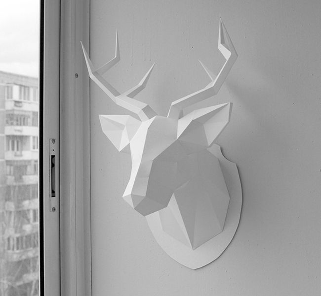 The best gift. You can buy a manual on gluing and 2d deer head template here: paypal - https://sellfy.com/p/gMrJ/​, visa, master card - https://gum.co/deerhead  The deer head. Голова оленя. Papercraft. Happy new year. Декор. Подарок на новый год.