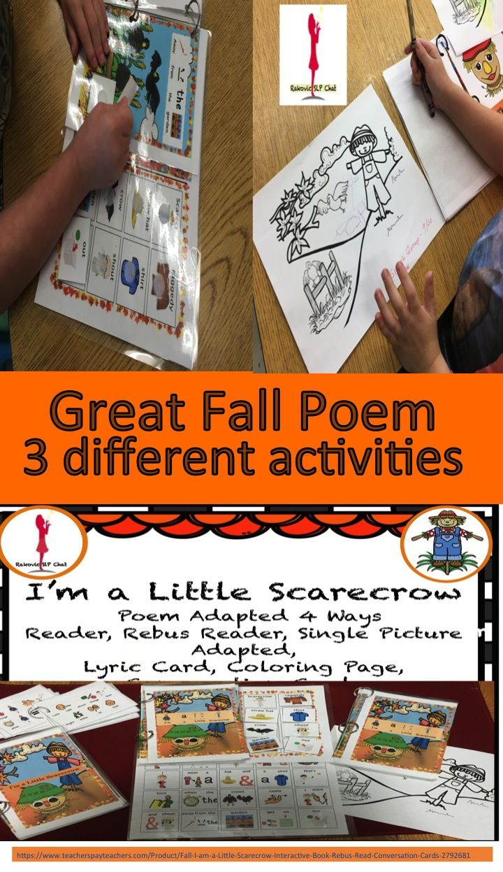 This is a great activity for the fall, story, conversation card, and coloring page.