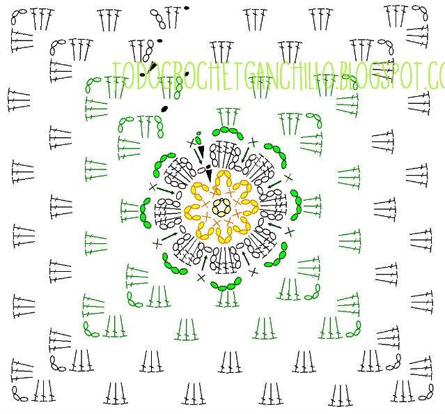 Mejores 128 imágenes de Granny Squares en Pinterest | Puntadas de ...