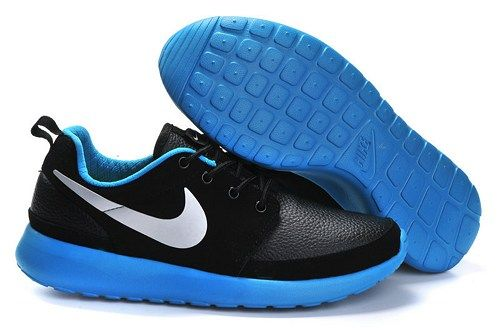 2014 cheap roshe run black blue white men sport running shoes