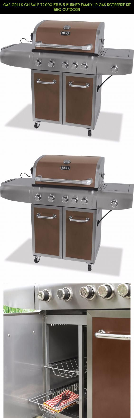 Gas Grills On Sale 72,000 BTUs 5-Burner Family LP Gas Rotisserie Kit BBQ Outdoor #products #camera #grills #tech #parts #drone #kit #racing #5 #technology #plans #fpv #shopping #gadgets #burner