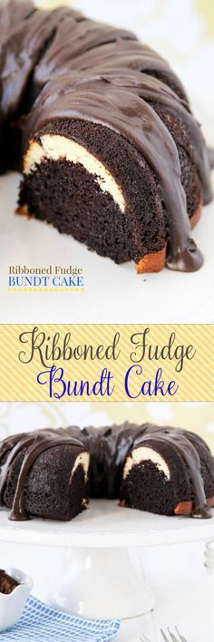 This bundt cake is like MAGIC!! Moist chocolate cake with cream cheese filling and fudge glaze. Everyone freaks when I cut it open!!