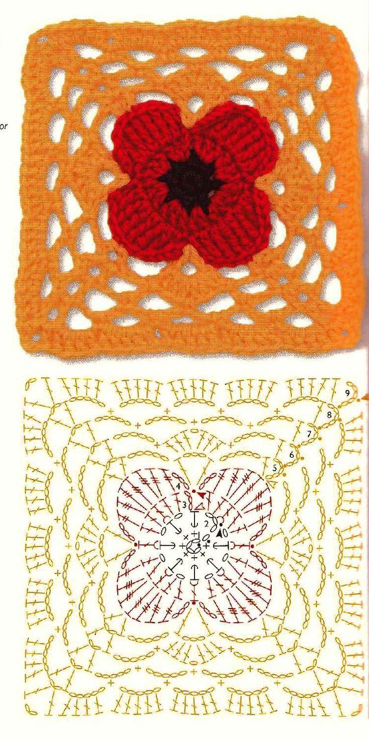 Motivi crochet knitting crochet blankets pinterest for 4 sq