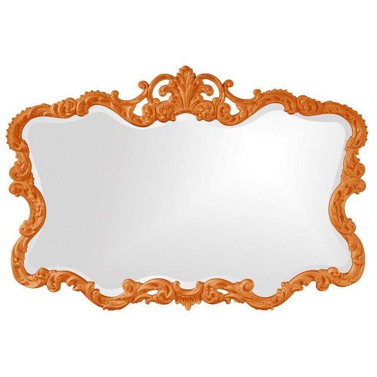 "Howard Elliott Talida Orange Mirror 27"" x 38"" x 1"""