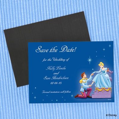 A Royal Save the Date Magnet fairy tale theme Your Prince Charming has finally proposed! Let your friends and family know of your upcoming Royal Wedding with this full-color Save the Date.