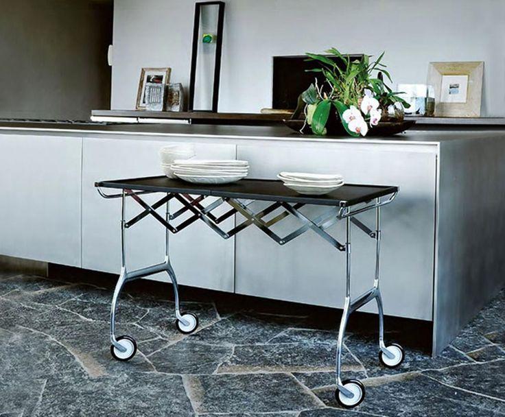 #trolley #bar #kar #keuken #werktafeltje #tafel #wielen