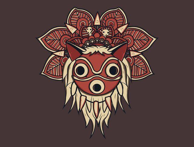 Mandala Spirit T-Shirt - Princess Mononoke T-Shirt is $15 at TeeFury!