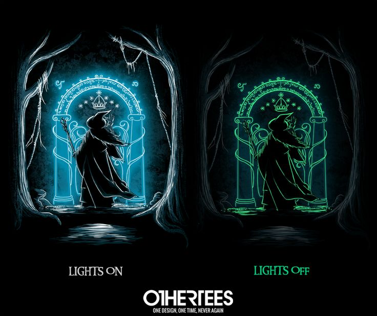 """Speak Friend and Enter"" by ddjvigo T-shirts, Tank Tops, V-necks, Sweatshirts and Hoodies are on sale until March 9th at www.OtherTees.com #LOTR #Gandalf #LordOfTheRings #Hobbit #GandalfTheGrey #OtherTees"