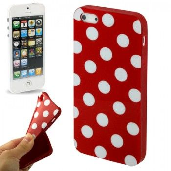 iPhone 5/5S Cases : Dot Stylish TPU Shell for iPhone 5 - Red