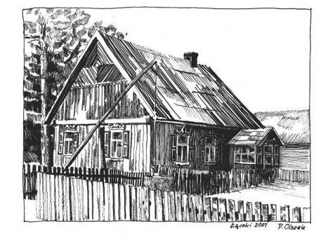 Architektura tradycyjna- Kurpie Kurpie, lud porywczy i na wpół dziki, jak pisali dziewiętnastowieczni badacze, wytworzyli kunsztowne budownictwo drewn...
