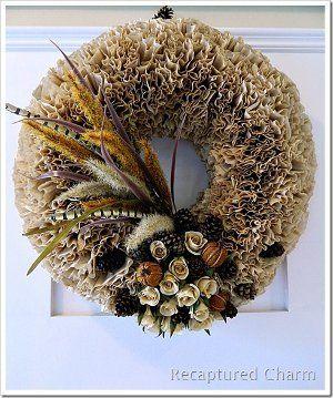 Rustic Coffee Filter Wreath