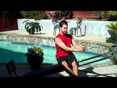 """Eric Isaacson is back with 6 Total Gym exercises to help strengthen and define the back muscles to get the classic """"V"""" shape for summer. Eric is a former collegiate tennis player who grew up using Total Gym with dad Dan Isaacson, personal trainer to Hollywood stars."""