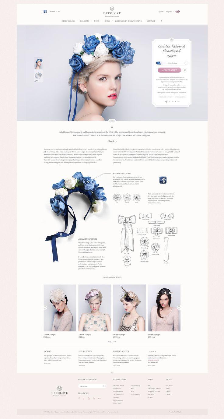 DECOLOVE Atelier. Online Store on Behance